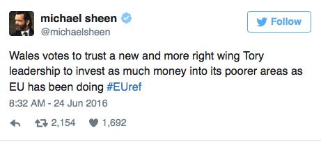 Les stars réagissent au Brexit sur Twitter
