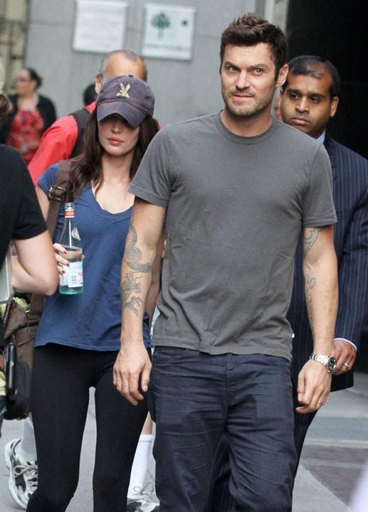 Brian Austin Green accompagne Megan Fox sur le tournage de The Dictator