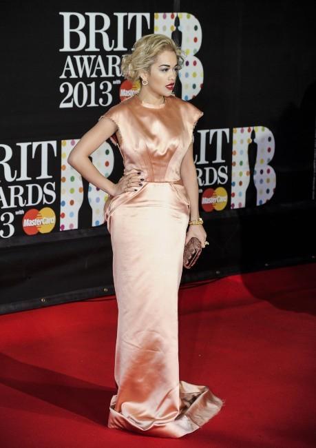 Rita Ora lors des Brit Awards 2013 à Londres, le 20 janvier 2013.