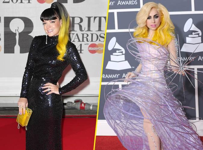 Brit Awards 2014 : Lily Allen : inspirée par Lady Gaga pour sa chevelure jaune ?