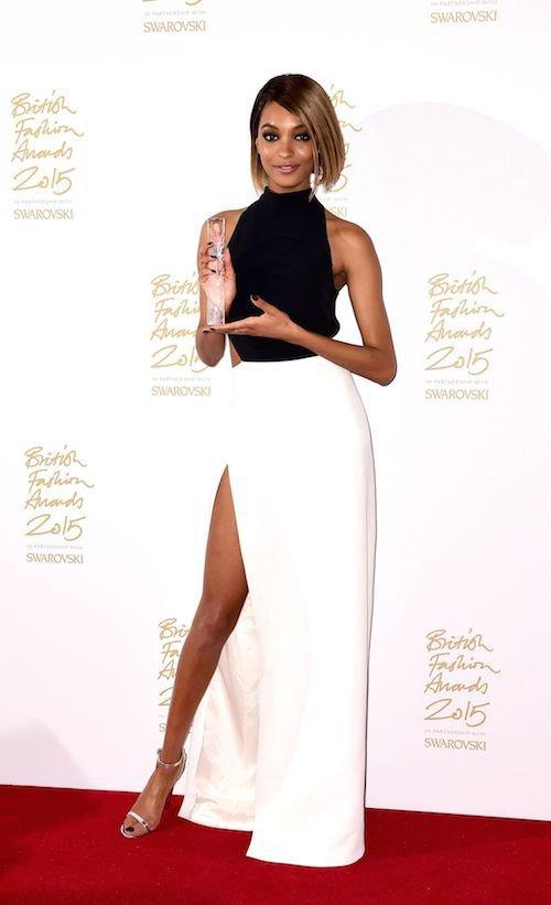 Jourdan Dunn aux British Fashion Awards, à Londres, le 23 novembre 2015
