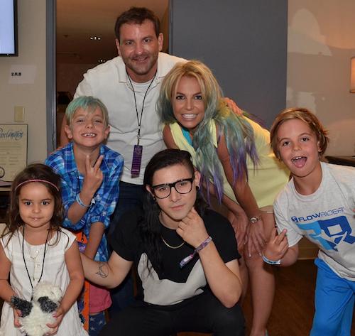 Photos : Britney Spears dégaine la coloration multicolore !