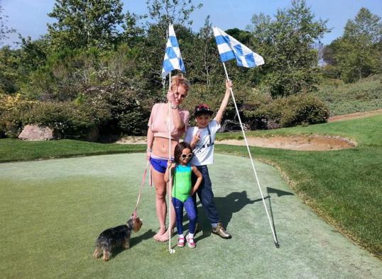 Britney Spears a passé la journée avec ses enfants
