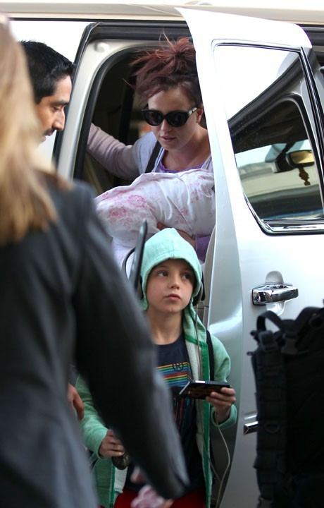 Britney Spears à l'aéroport de Los Angeles le 13 mars 2014