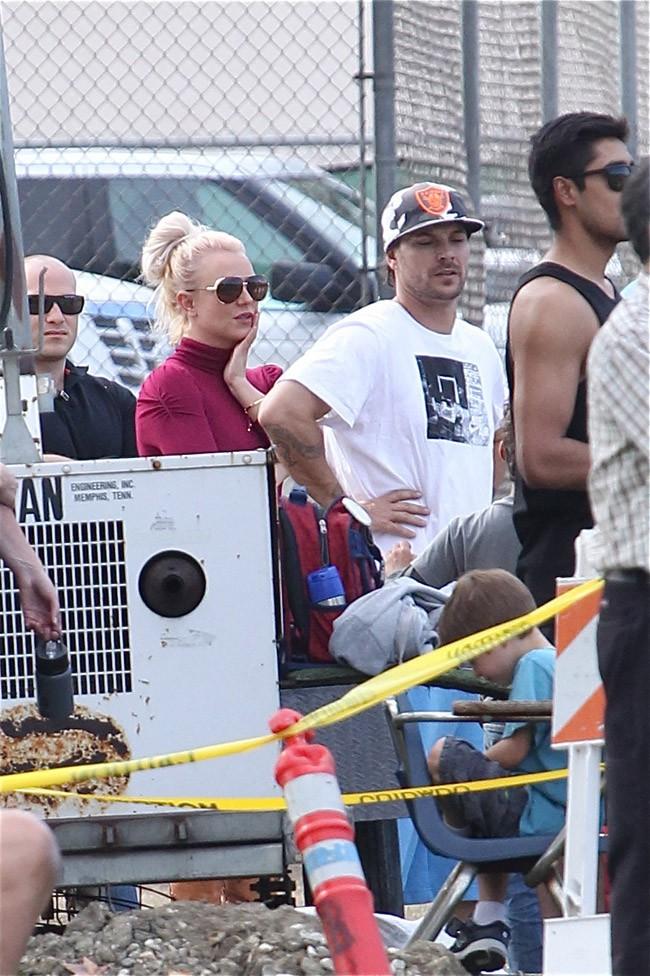 Britney Spears et Kevin Federline réunis à Woodland Hills le 26 octobre 2013