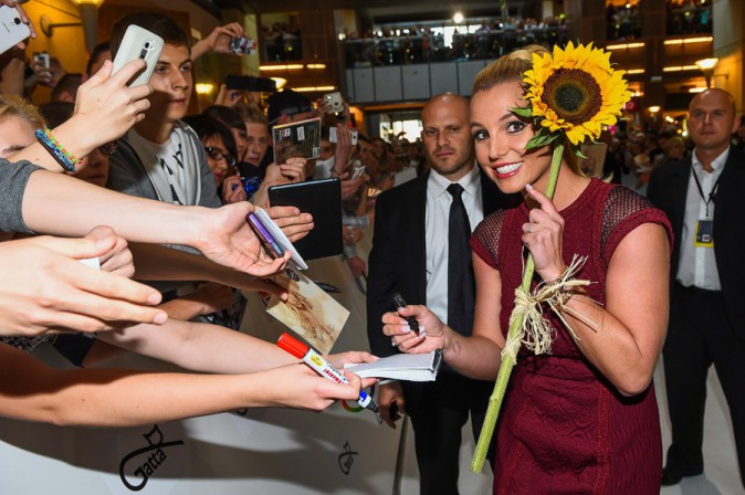 Britney Spears à Varsovie le 24 septembre 2014