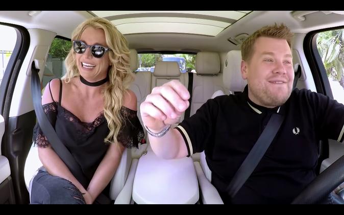"""Photos : Britney Spears invitée très spéciale dans le """"Carpool Karaoke"""" de James Corden"""