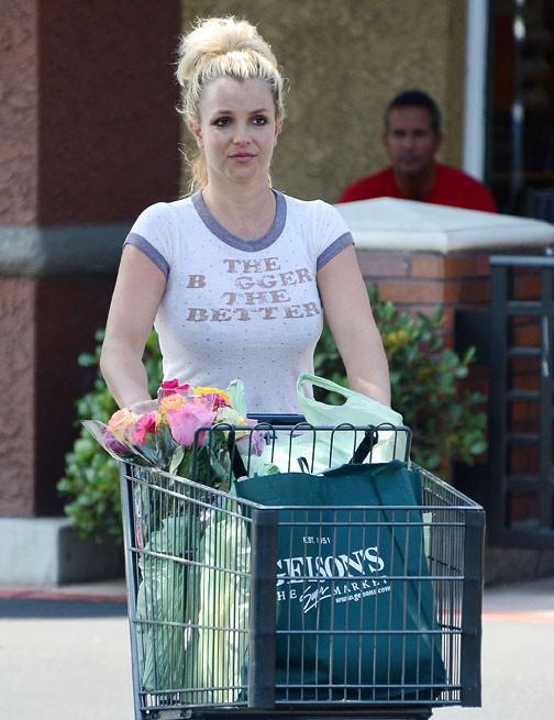 Britney Spears à Thousand Oaks le 1er août 2013