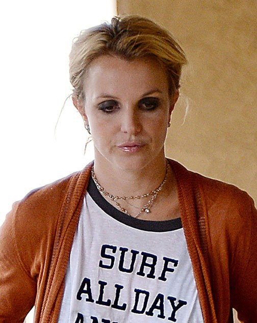 Britney Spears à Westlake Village le 15 octobre 2014