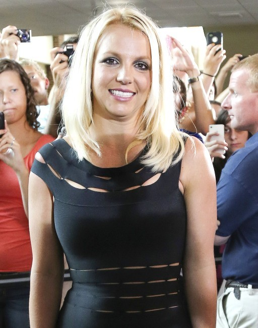 Britney Spears lors des auditions d'X-Factor à Greensboro, le 8 juillet 2012.
