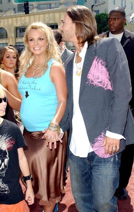 En 2005, enceinte et épanouie