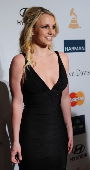 Britney Spears lors de la soirée pre-Grammy organisée par Clive Davis, le 11 février 2012.