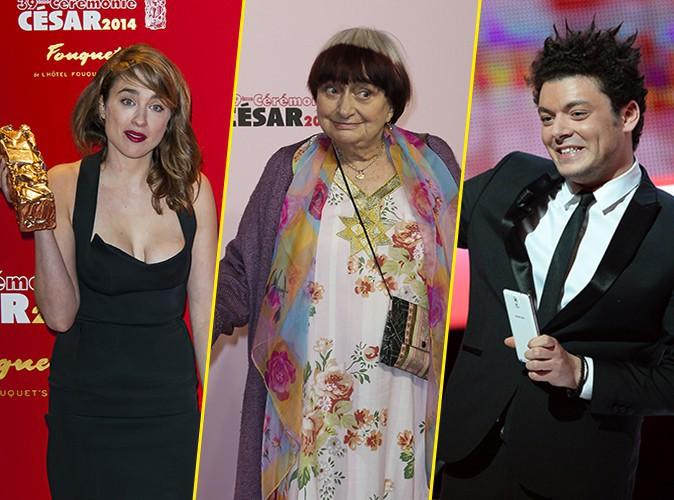 Photos : Buzz des Césars 2014 : le décolleté d'Adèle Haenel, la coupe d'Agnès Varda et le discours de Kev Adams !