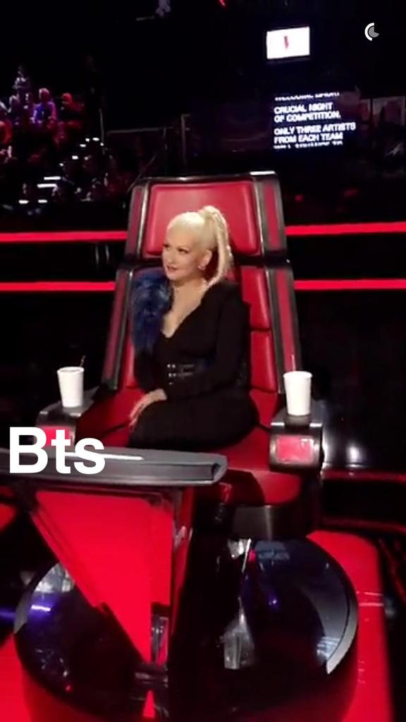 Photos : Ca y est : Christina Aguilera est sur Snapchat !