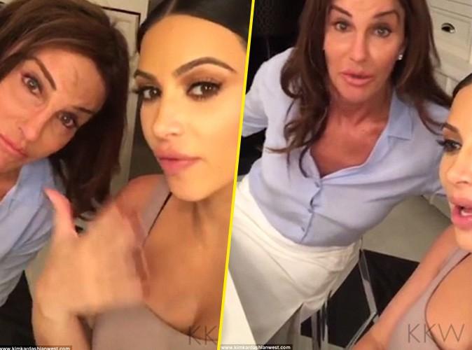 Caitlyn Jenner et Kim Kardashian le 2 octobre 2015