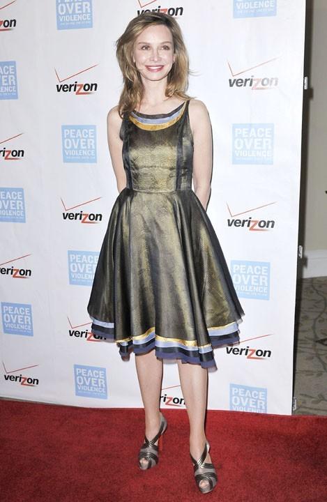 Calista Flockhart à la soirée des Peace Over Violence 41st Annual Humanitarian Awards à Los Angeles le 26 octobre 2012