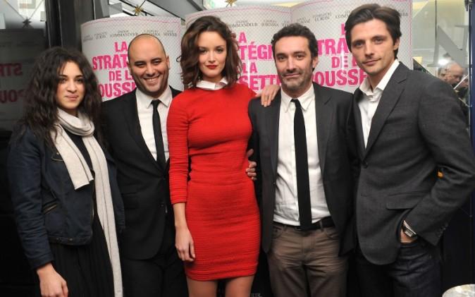 Camélia Jordana et l'équipe du film le 18 décembre 2012 à Paris