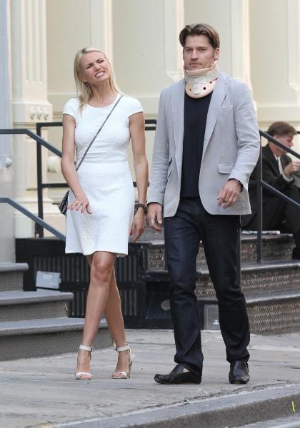 Cameron Diaz et Nikolaj Coster-Waldau le 21 juin 2013 à New York
