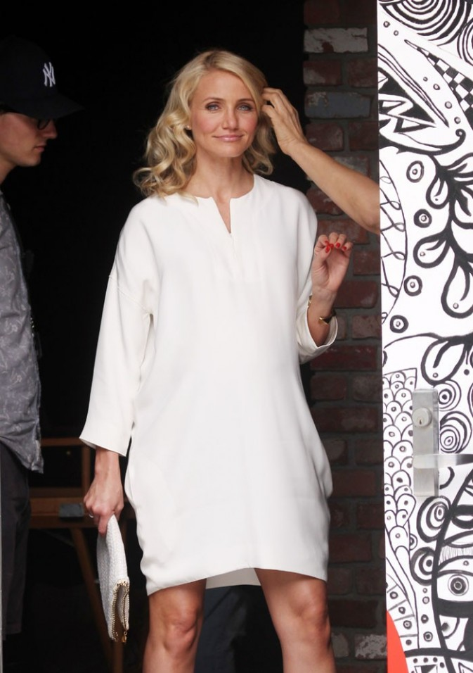 Cameron Diaz sur le tournage de The other Woman à New-York le 4 juin 2013