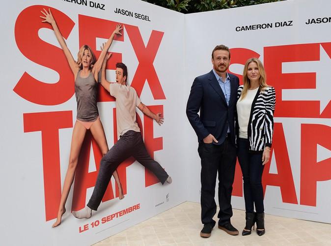 Jason Segel et Cameron Diaz à Paris le 4 septembre 2014