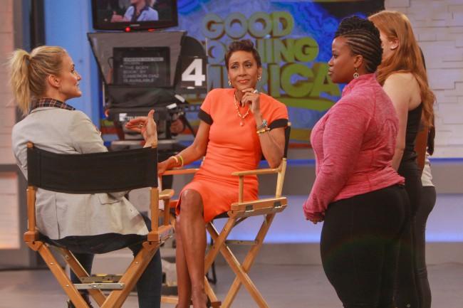 Cameron Diaz sur le plateau de Good Morning America, le 6 janvier 2014.