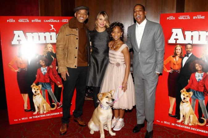 Will Smith, Cameron Diaz, Quvenzhane Wallis et Jay-Z le 7 décembre 2014