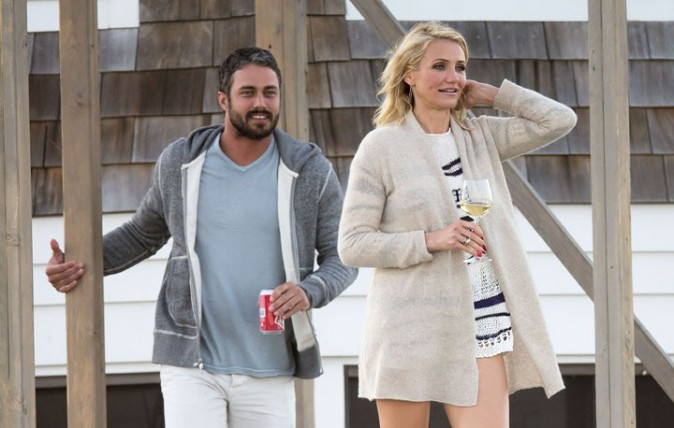 Cameron Diaz et Taylor Kinney sur le tournage de The Other Woman près de New-York le 5 juin 2013