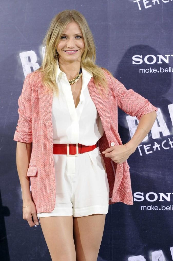 Cameron Diaz à Madrid pour la promo du film Bad Teacher, le 13 juin 2011.
