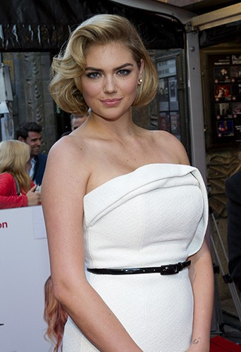 Kate Upton à Amsterdam le 1er avril 2014