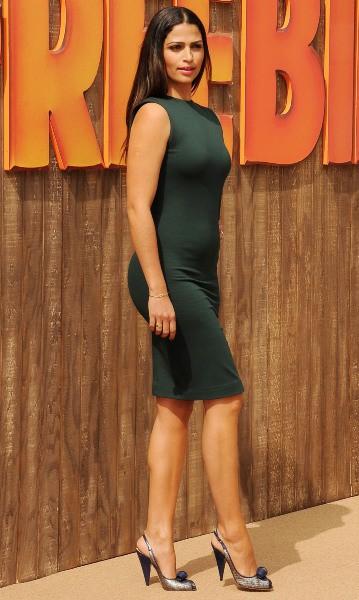 """Camila Alves lors de la première du film d'animation """"Free Birds"""" à Hollywood, le 13 octobre 2013."""