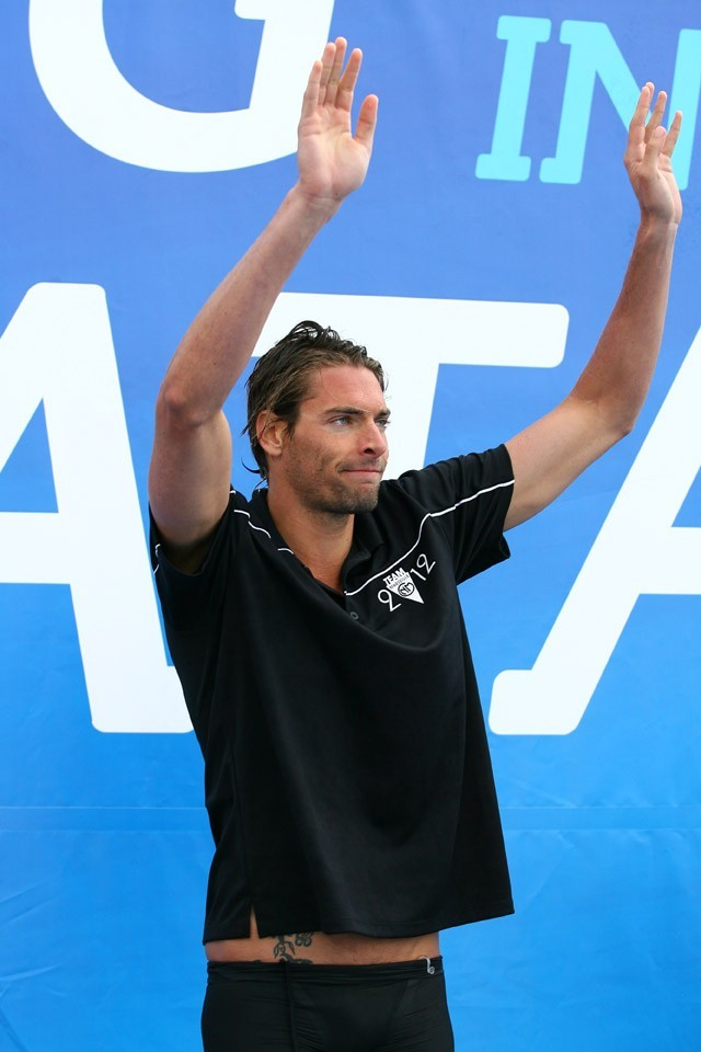 Camille Lacourt à Canet en Rousillon le 7 juin 2012 pour le 15 ème meeting international Arena