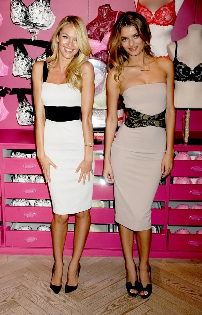 Candice Swanepoel et Bregje Heinen le 31 juillet 2012 à New York