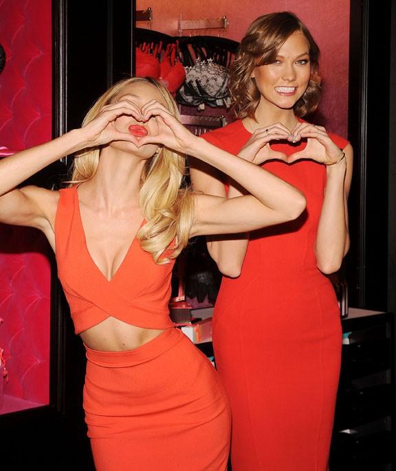 Candice Swanepoel et Karlie Kloss à New-York le 4 février 2014
