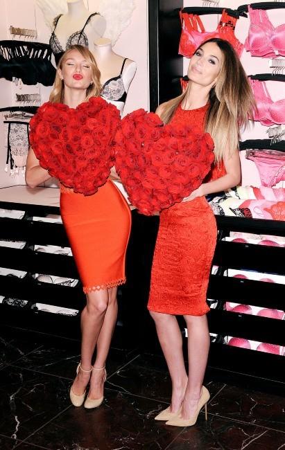 Candice Swanepoel et Lily Aldridge le 6 février à New York