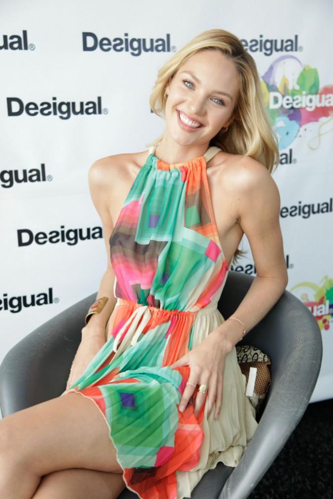 Candice Swanepoel nouvelle égérie Desigual à New York, le 6 février 2014.