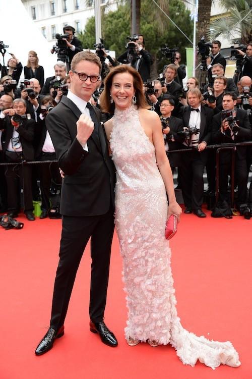Carole Bouquet pour la première montée des marches du 67ème festival de Cannes