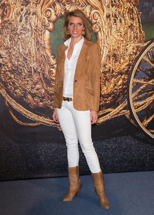 Sylvie Tellier à l'avant-première de Cendrillon à Paris, le 22 mars 2015