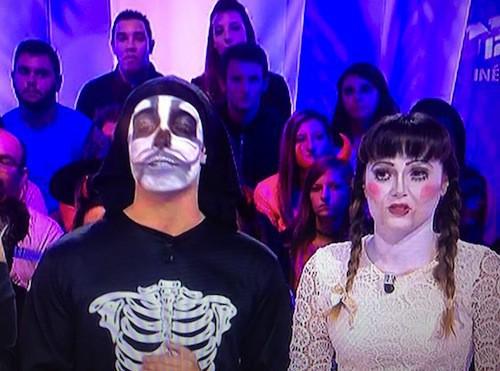 Photos : Capucine Anav et Benoît Dubois : trop flippants pour Halloween !