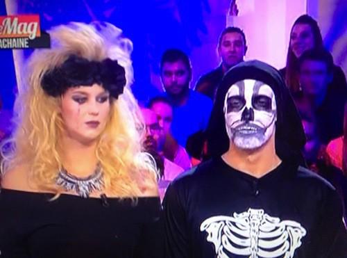 Romain Migdalski et Aurélie Van Daelen, chroniqueusr du Mag pour Halloween