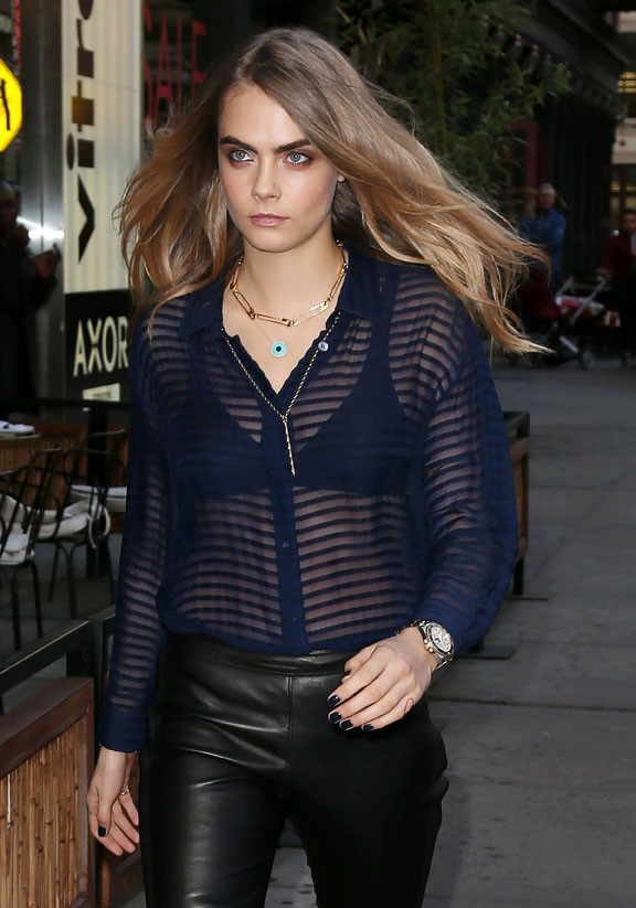 Cara Delevingne à New-York le 21 octobre 2014