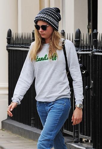 Cara Delevingne à Londres le 26 juin 2014