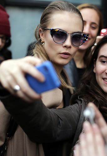 Cara Delevingne à Milan le 20 février 2014