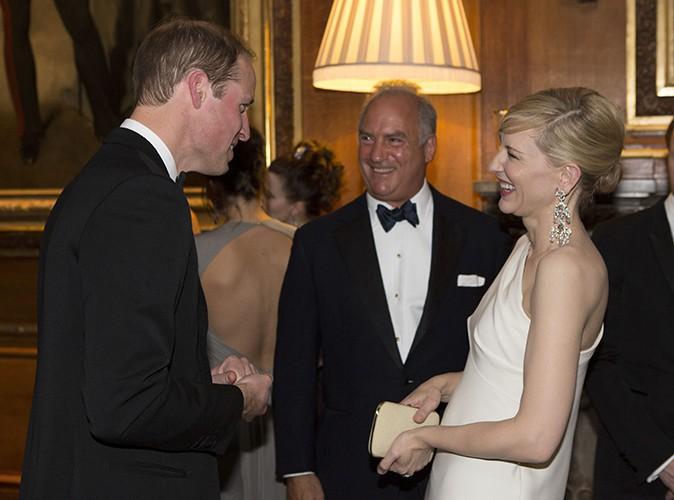 Le Prince William et Cate Blanchett à Windsor le 13 mai 2014