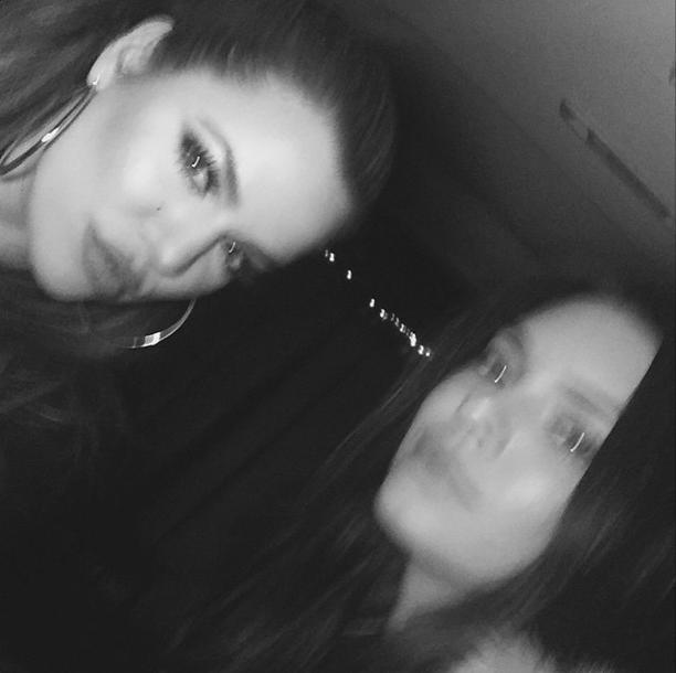Khloe Kardashian et Kendall Jenner le 29 janvier 2015