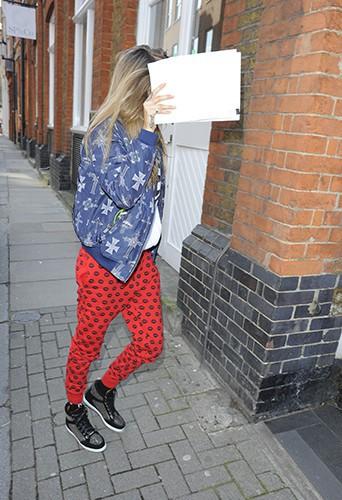 Cara Delevingne à Londres le 6 mars 2014