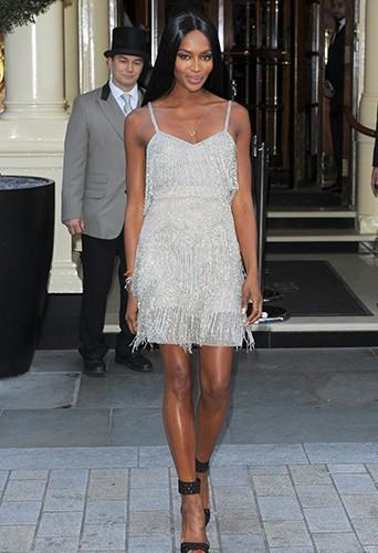 Naomi Campbell à Londres le 29 avril 2014