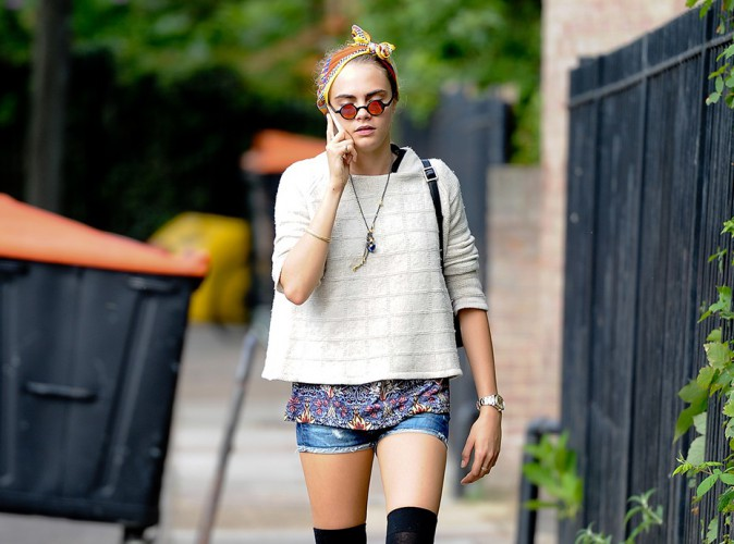 Cara Delevingne à Londres le 7 août 2014