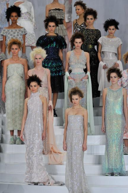 Défilé Chanel Haute Couture à Paris, le 21 janvier 2014.