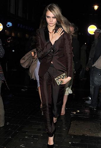 Cara Delevingne à Londres le 15 février 2014