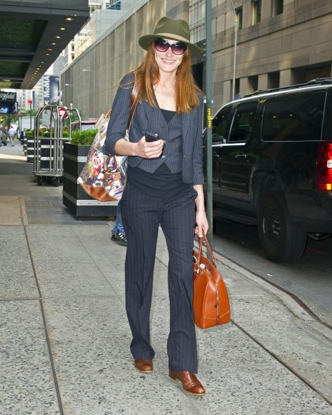 Carla Bruni à New York, le 27 juin 2013.